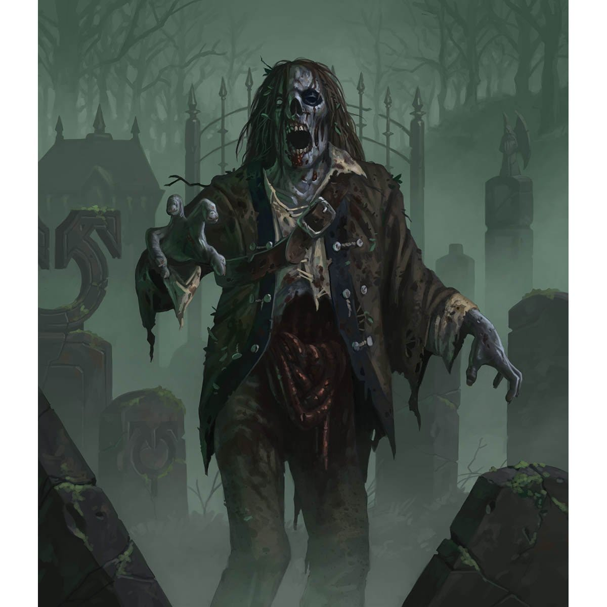 Zombie Token Print - Print - Original Magic Art - Accessories for Magic the Gathering and other card games