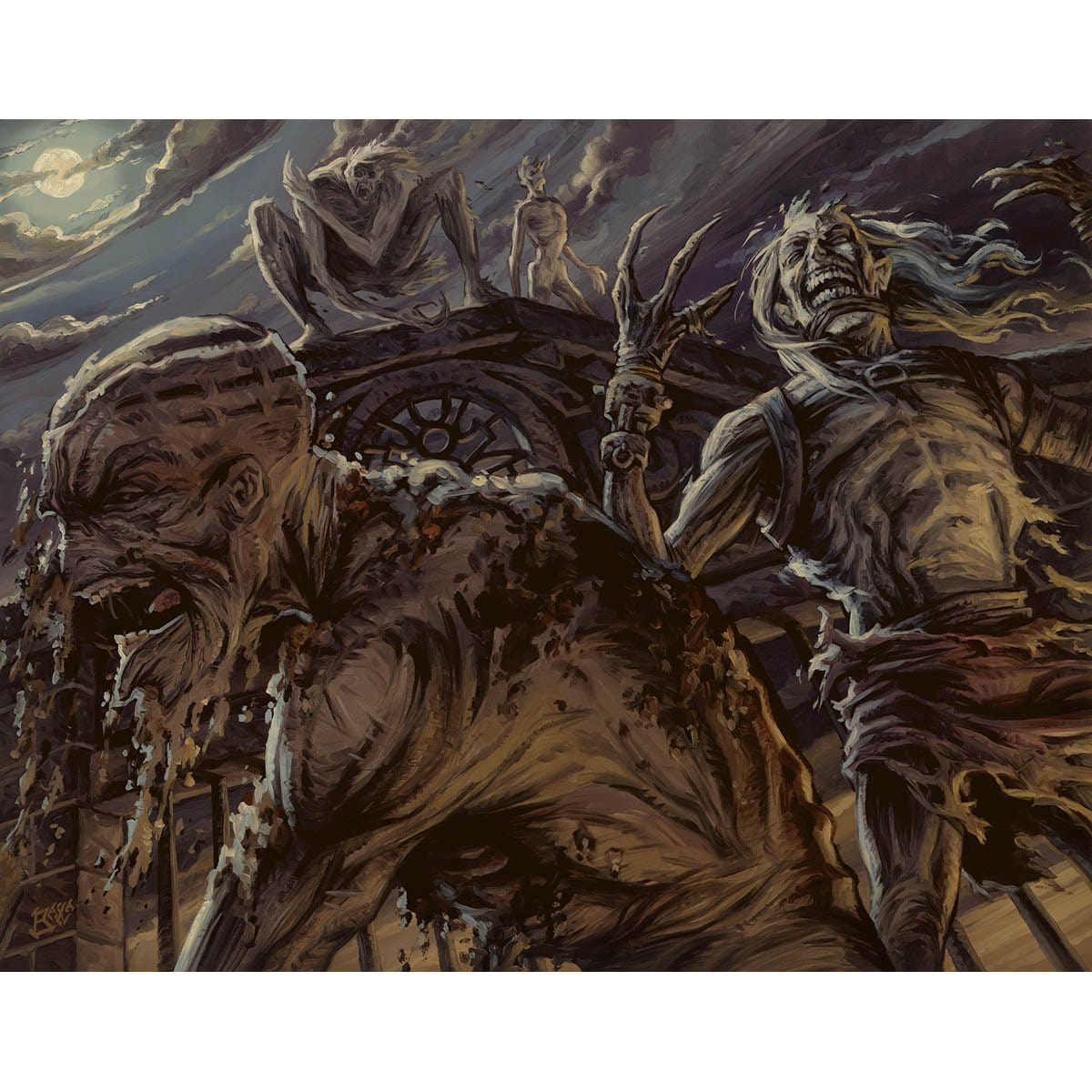 Zombie Infestation Print - Print - Original Magic Art - Accessories for Magic the Gathering and other card games