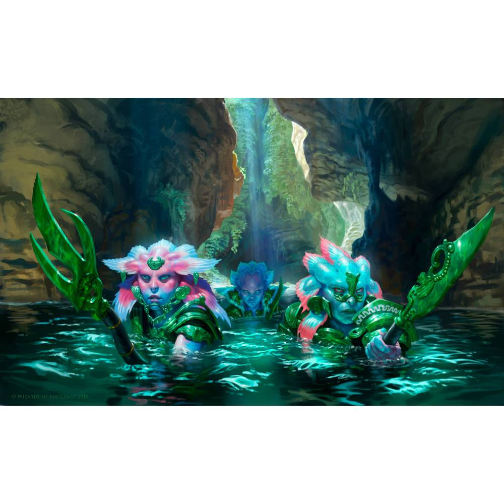 Aquatic Incursion Print - Print - Original Magic Art - Accessories for Magic the Gathering and other card games