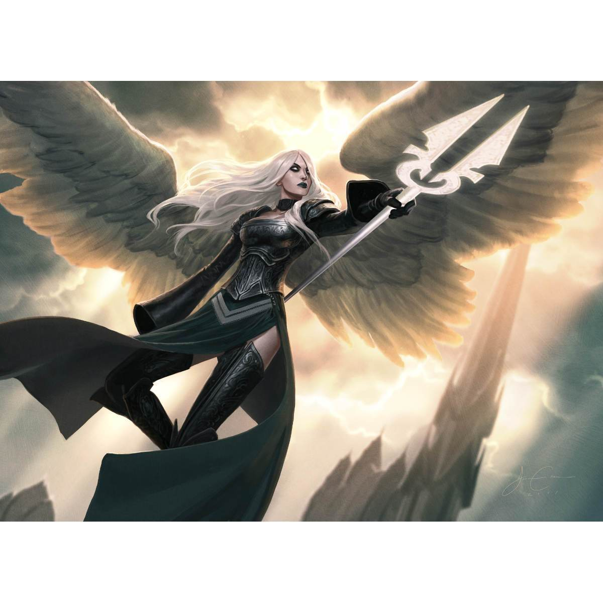 Avacyn, Angel of Hope Print - Print - Original Magic Art - Accessories for Magic the Gathering and other card games