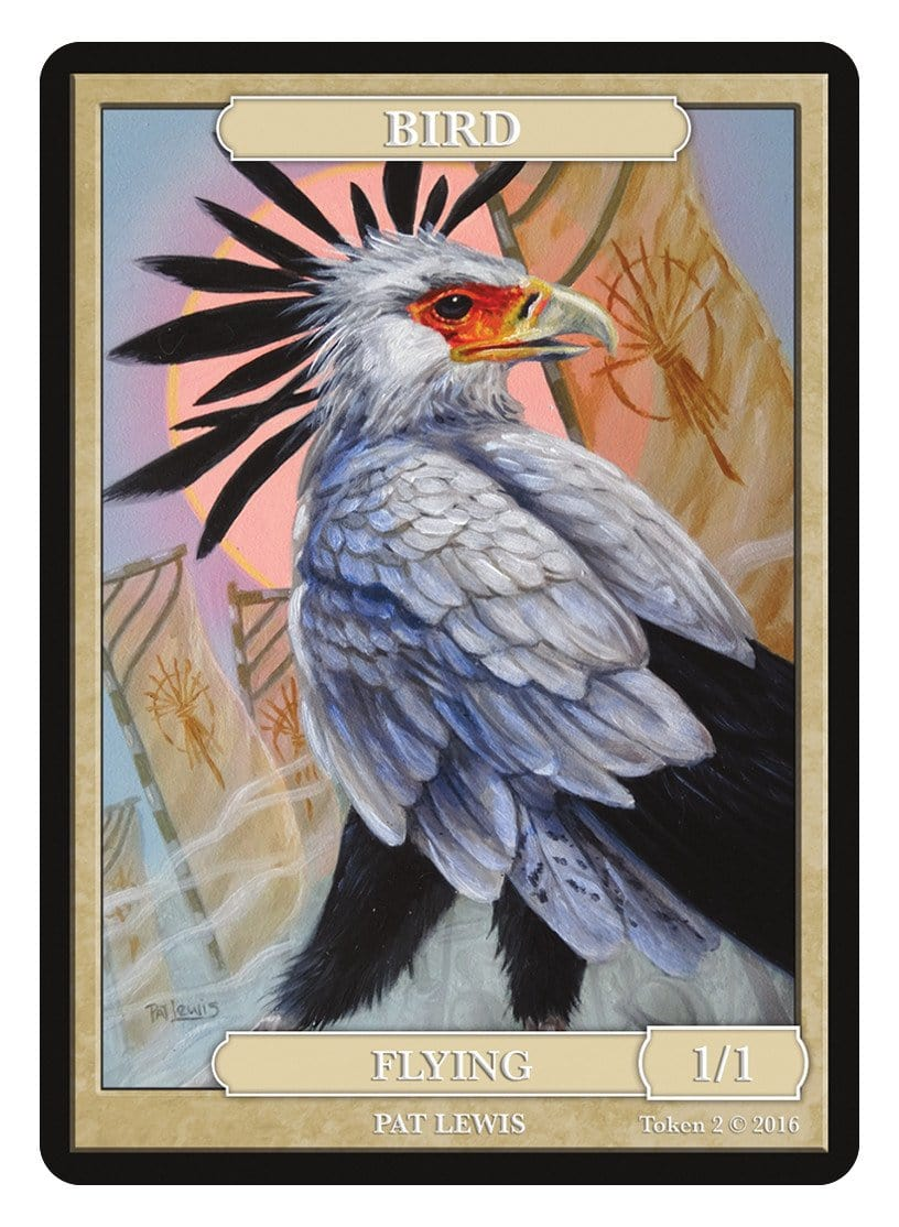Bird Token (1/1) by Pat Lewis - Token - Original Magic Art - Accessories for Magic the Gathering and other card games