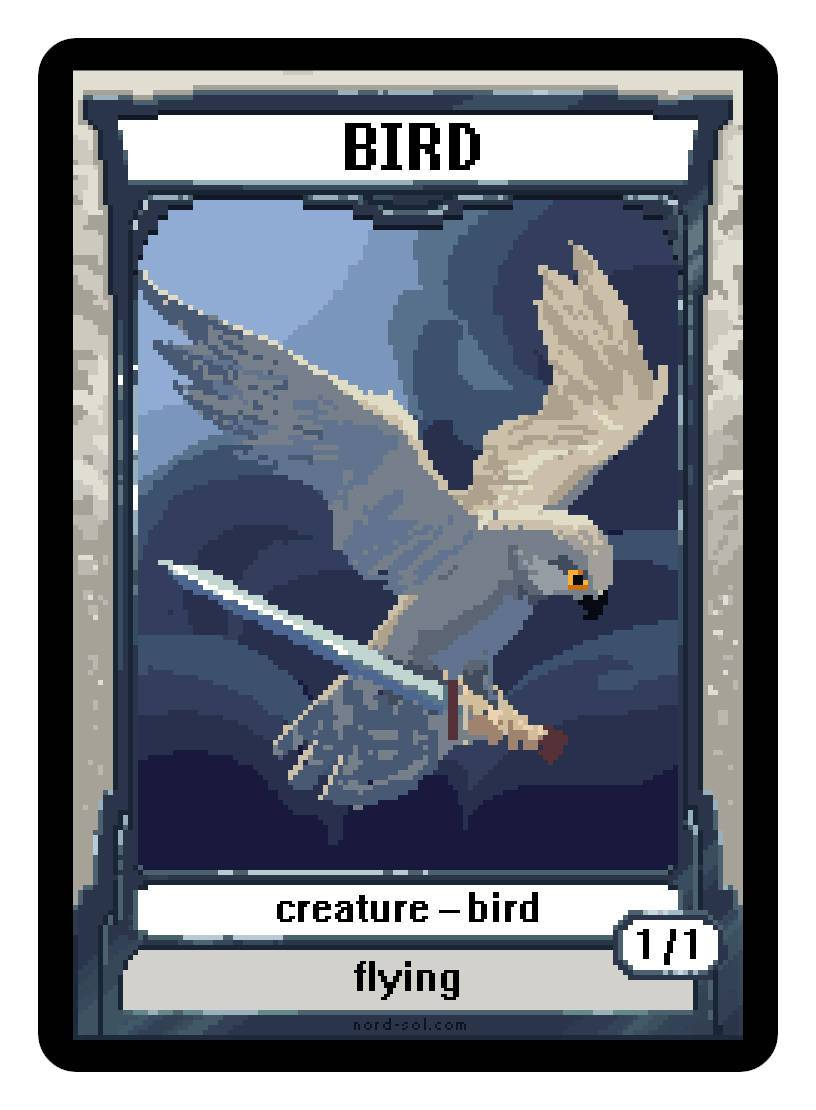 Bird Token (1/1 - Flying) by Irina Nordsol