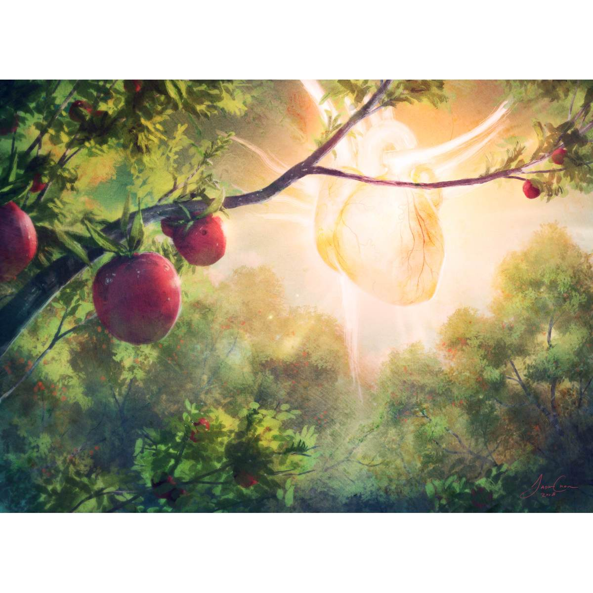 Bountiful Harvest Print - Print - Original Magic Art - Accessories for Magic the Gathering and other card games