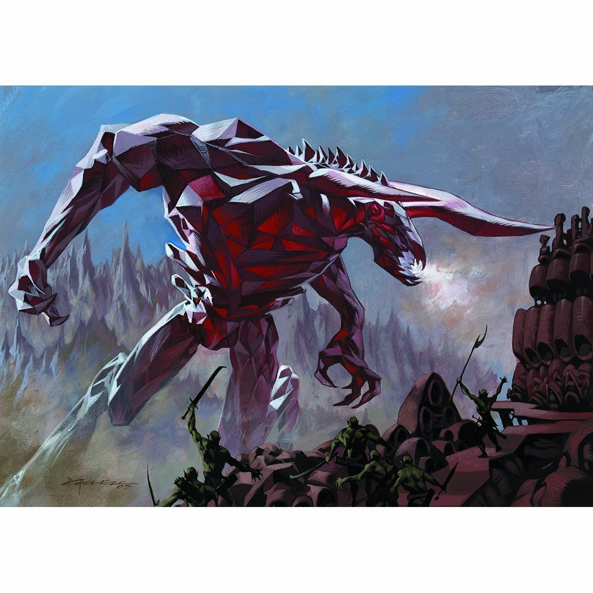 Bringer of the Red Dawn Print - Print - Original Magic Art - Accessories for Magic the Gathering and other card games