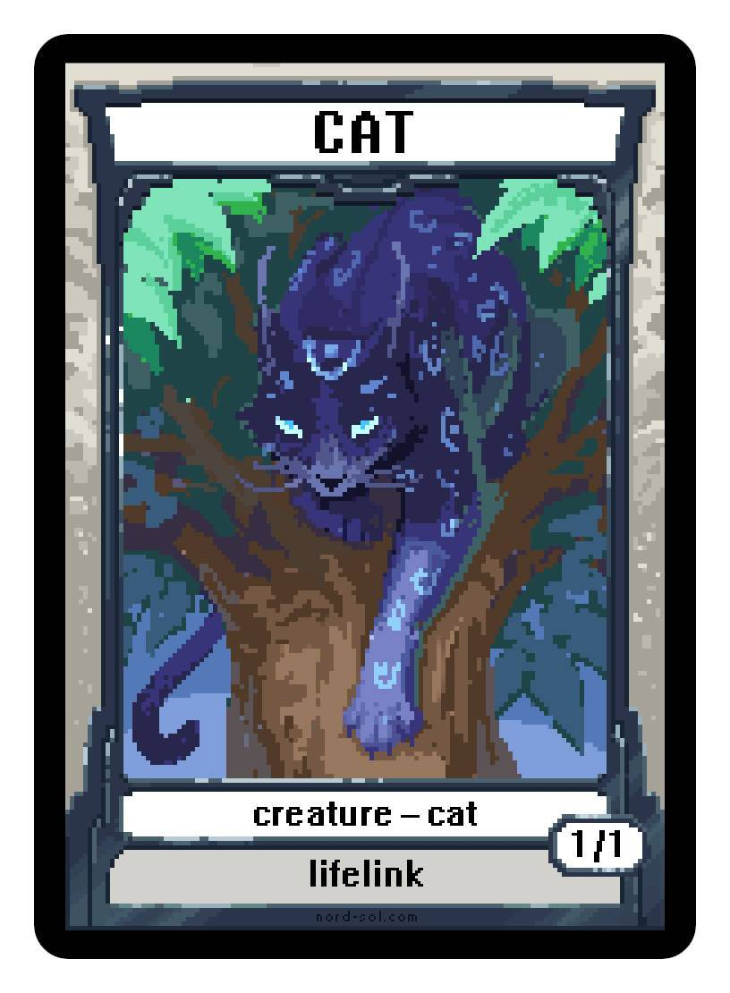Cat Token (1/1 - Lifelink) by Irina Nordsol