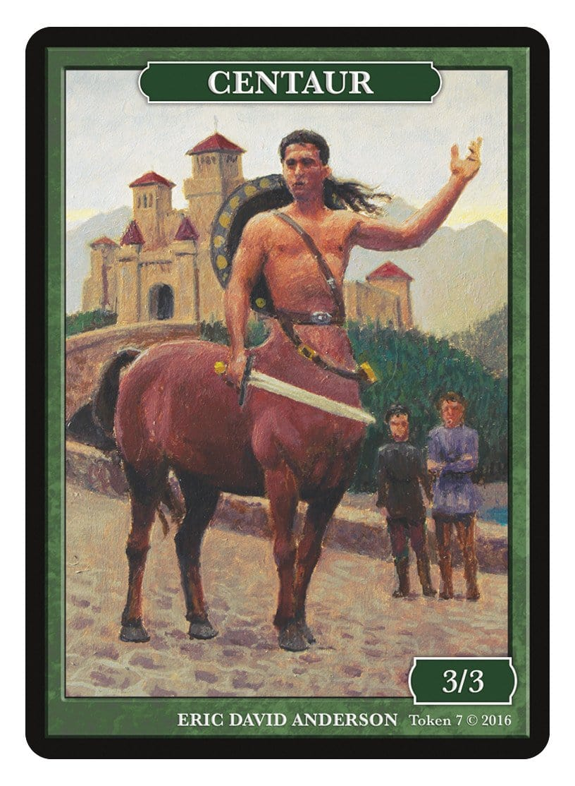 Centaur Token (3/3) by Eric David Anderson - Token - Original Magic Art - Accessories for Magic the Gathering and other card games