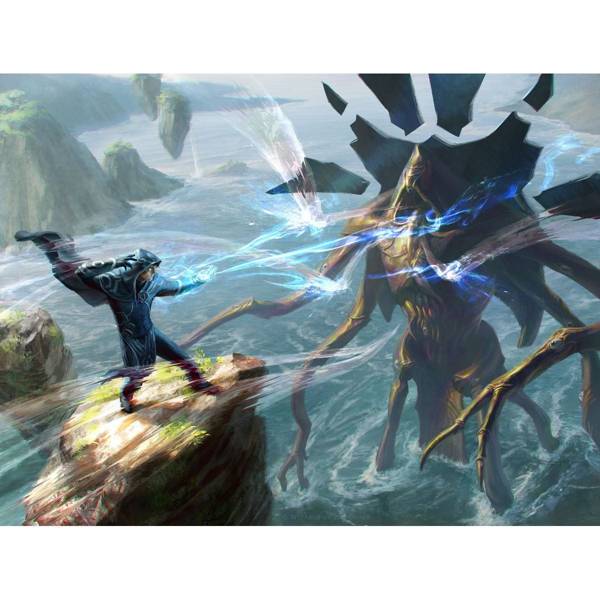 Clash of Wills Print - Print - Original Magic Art - Accessories for Magic the Gathering and other card games