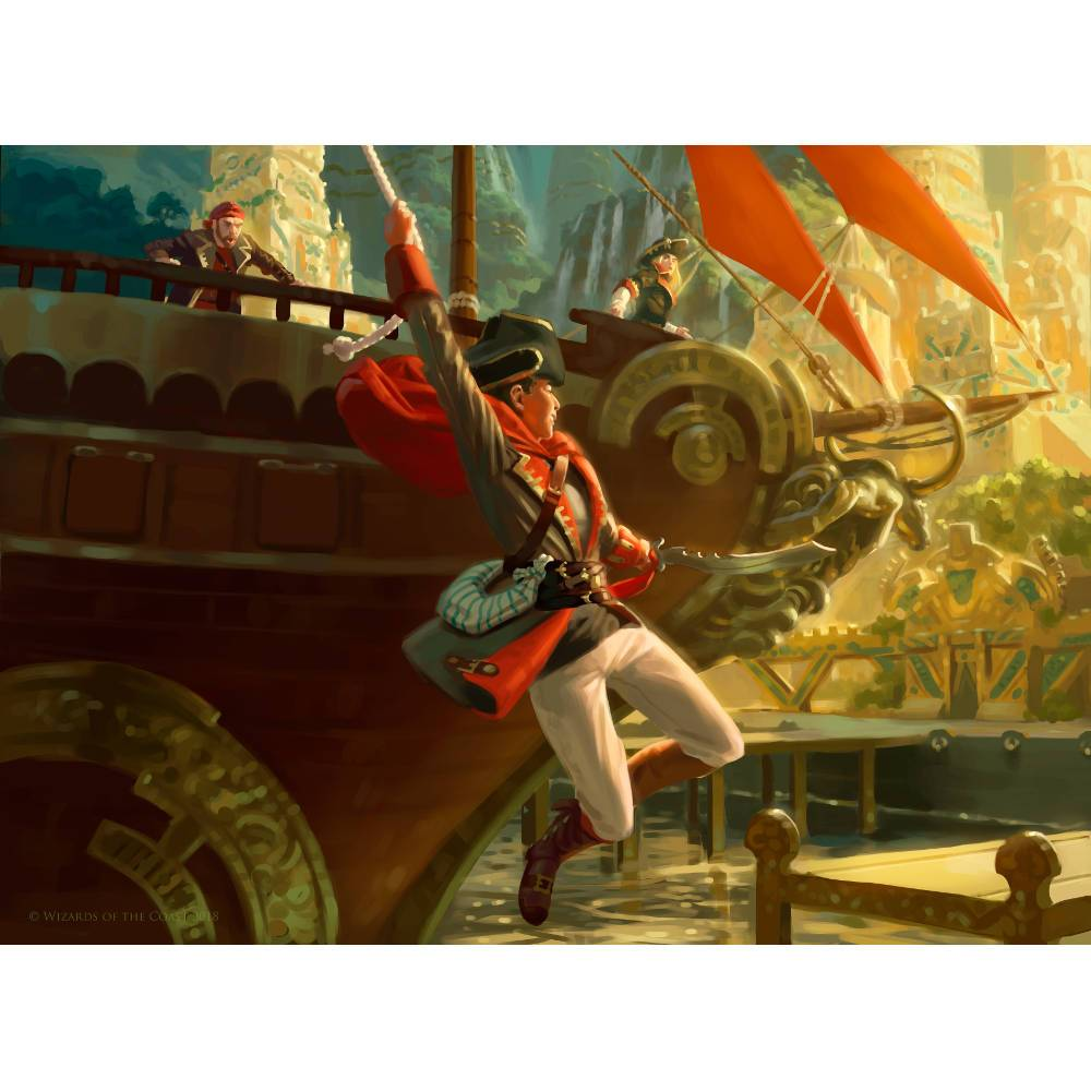 Daring Buccaneer Print - Print - Original Magic Art - Accessories for Magic the Gathering and other card games