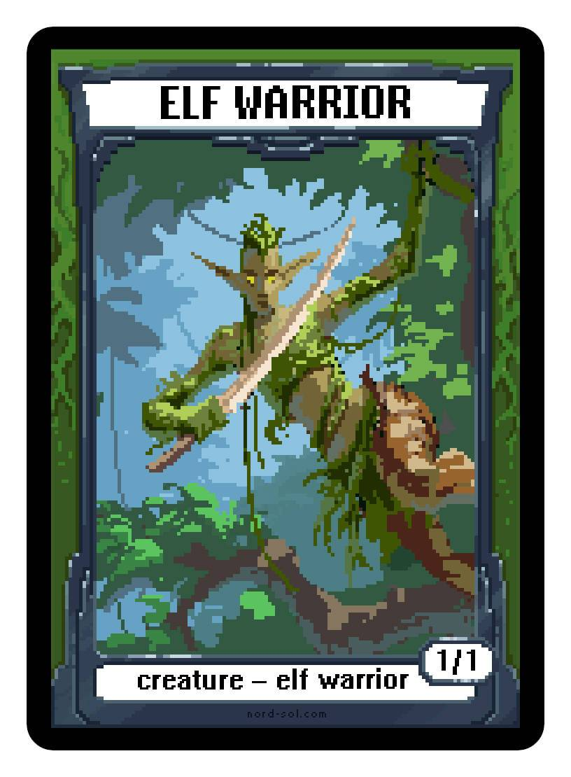 Elf Warrior Token (1/1) by Irina Nordsol