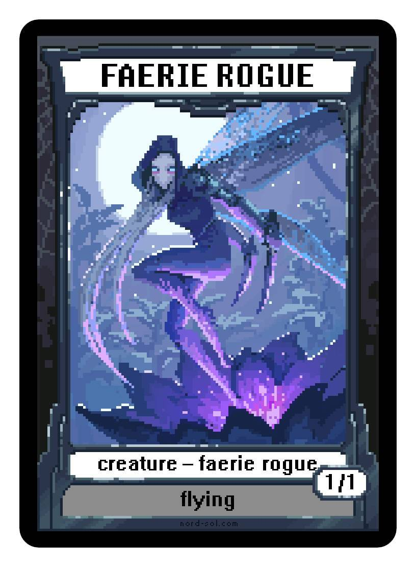 Faerie Rogue Token (1/1 - Flying) by Irina Nordsol