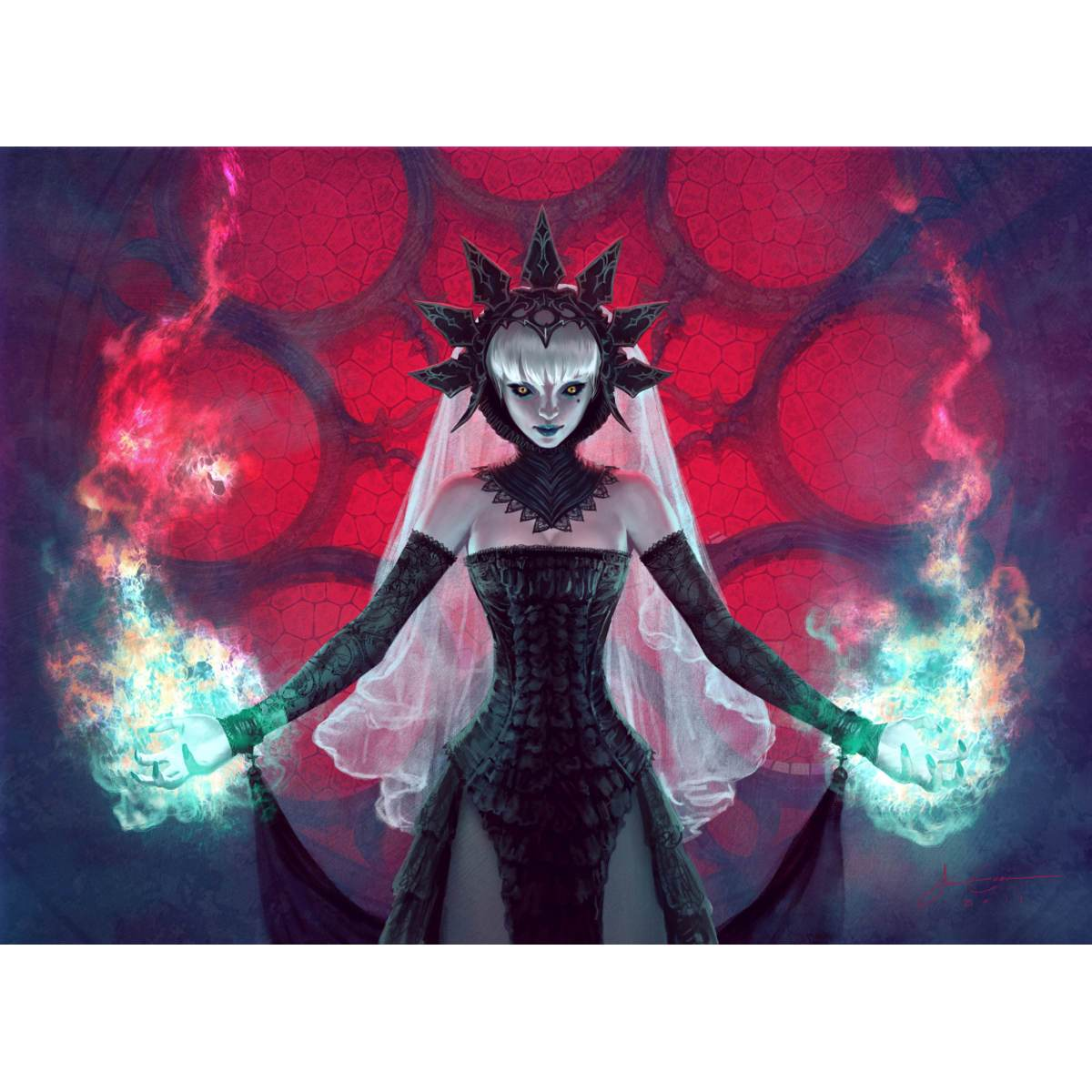 Fires of Undeath Print - Print - Original Magic Art - Accessories for Magic the Gathering and other card games