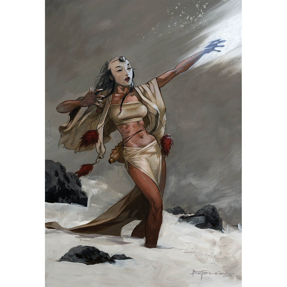 Frostwielder Print - Print - Original Magic Art - Accessories for Magic the Gathering and other card games