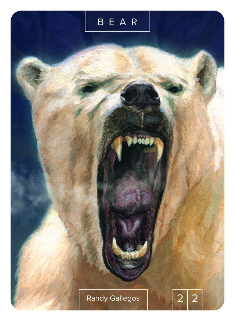 Bear Token (2/2) by Randy Gallegos - Token - Original Magic Art - Accessories for Magic the Gathering and other card games