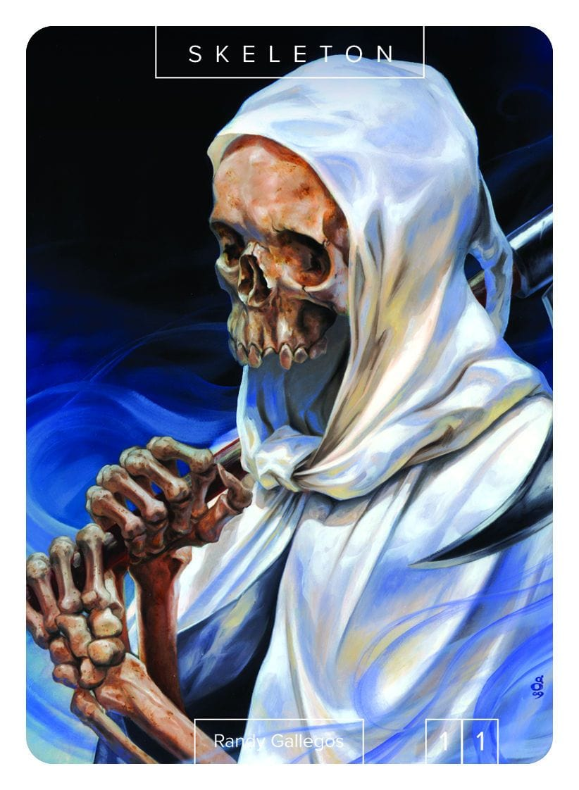 Skeleton Token (1/1) by Randy Gallegos - Token - Original Magic Art - Accessories for Magic the Gathering and other card games