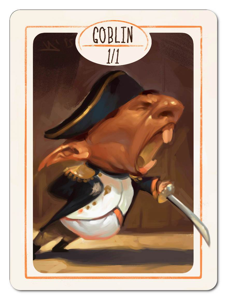 Goblin Token (1/1) by Victor Adame Minguez - Token - Original Magic Art - Accessories for Magic the Gathering and other card games
