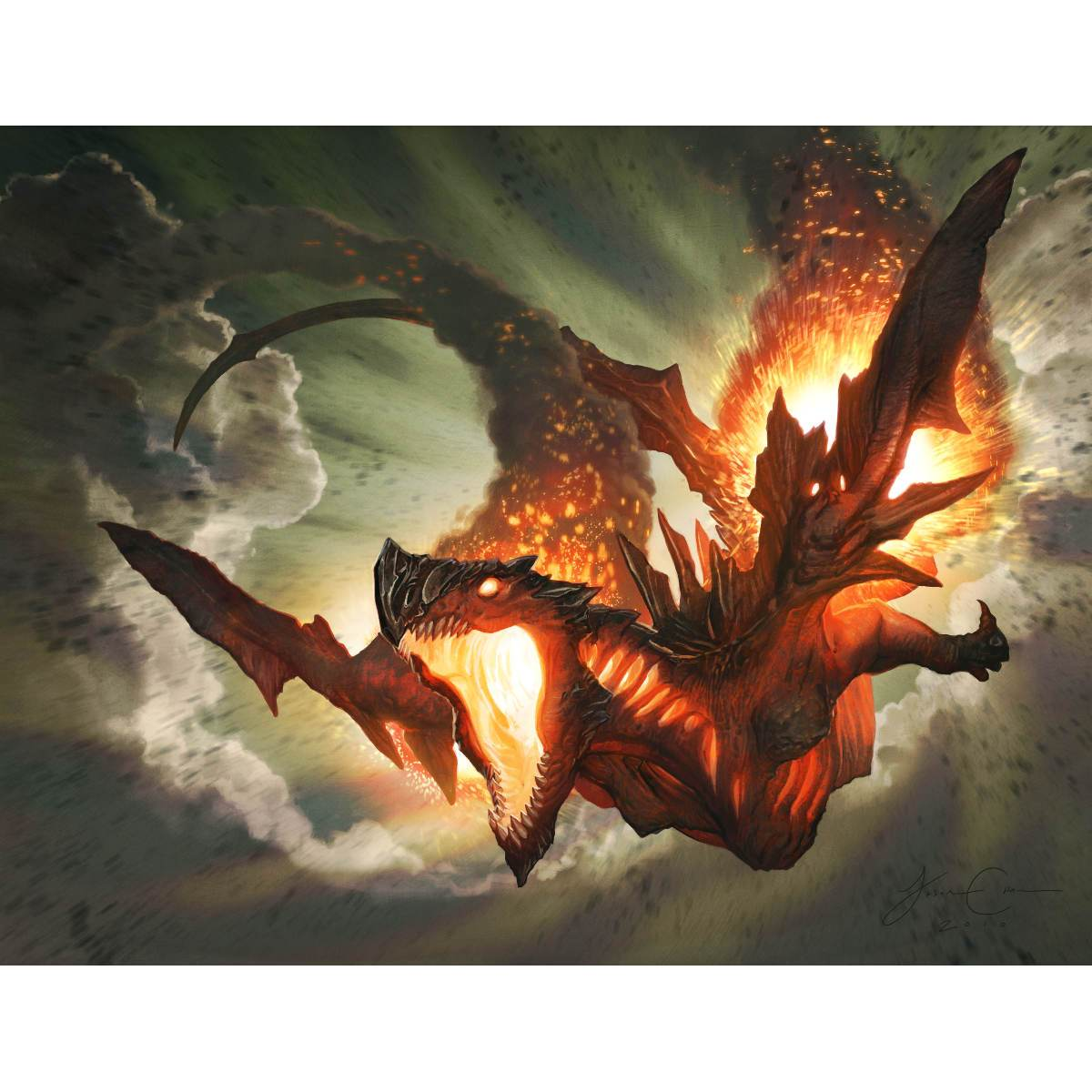 Hellkite Igniter Print - Print - Original Magic Art - Accessories for Magic the Gathering and other card games