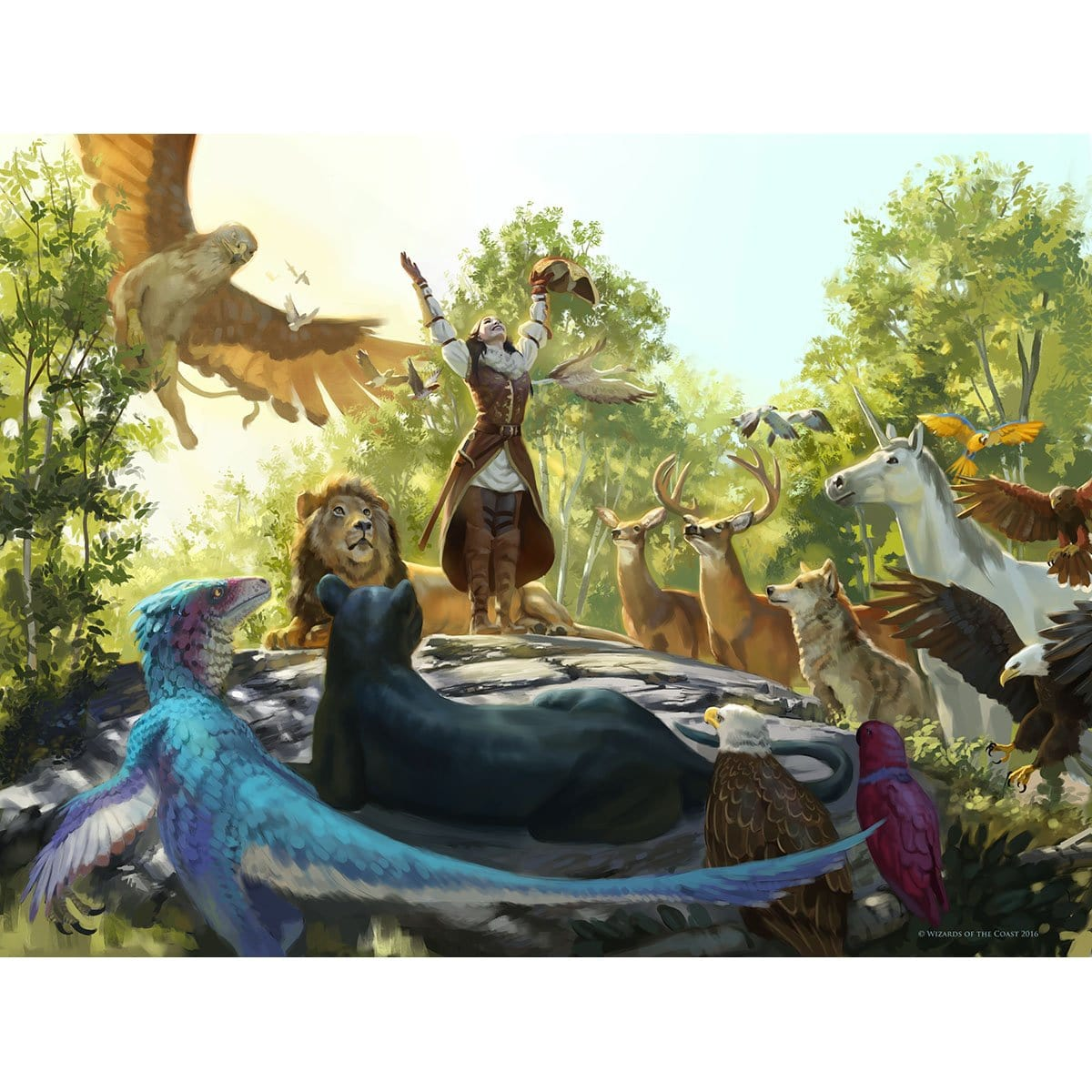 Hymn of the Wilds Print - Print - Original Magic Art - Accessories for Magic the Gathering and other card games