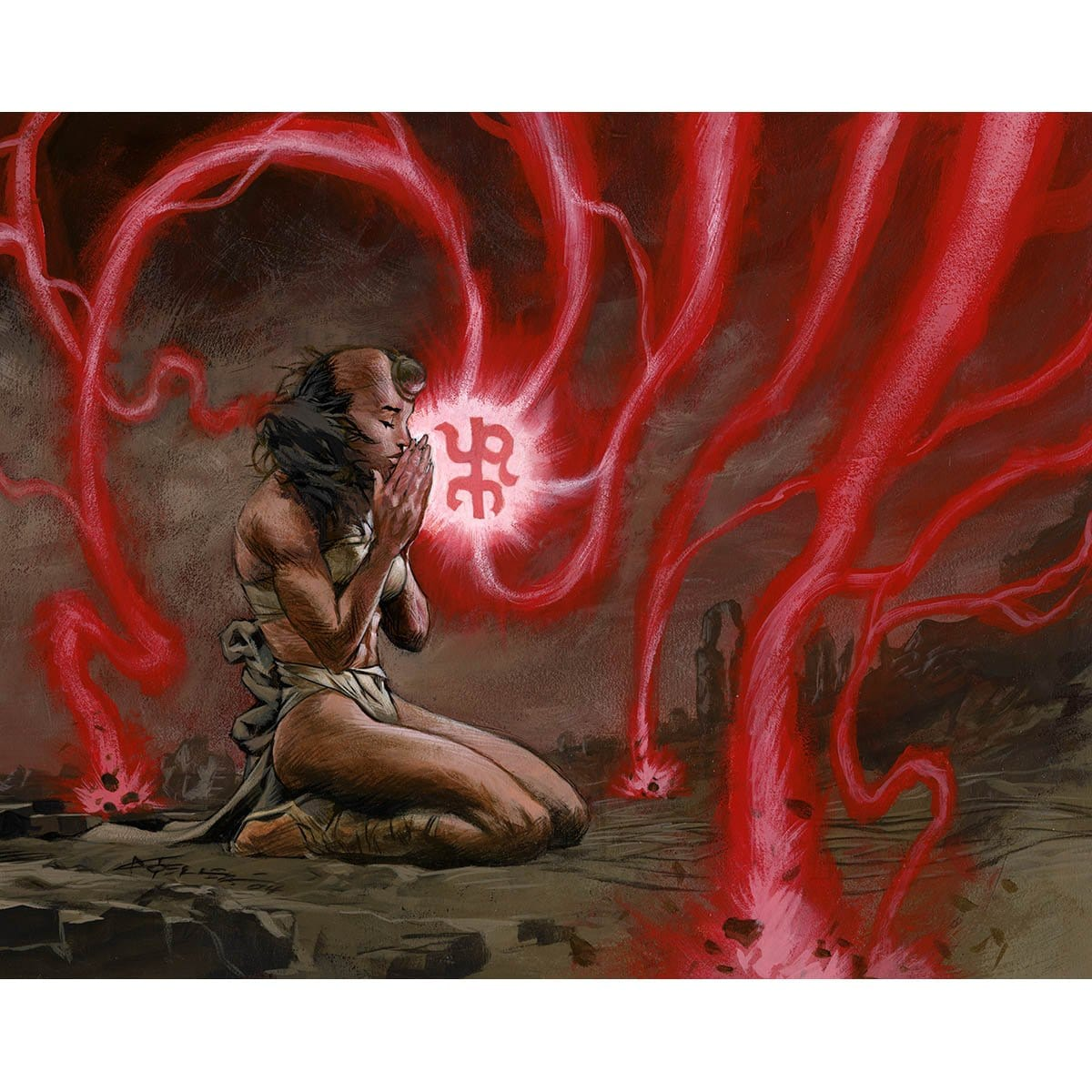 Inner Fire Print - Print - Original Magic Art - Accessories for Magic the Gathering and other card games