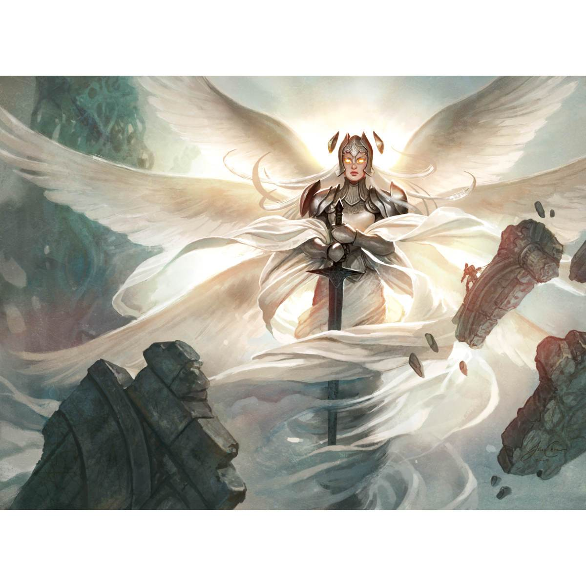 Iona, Shield of Emeria Print - Print - Original Magic Art - Accessories for Magic the Gathering and other card games