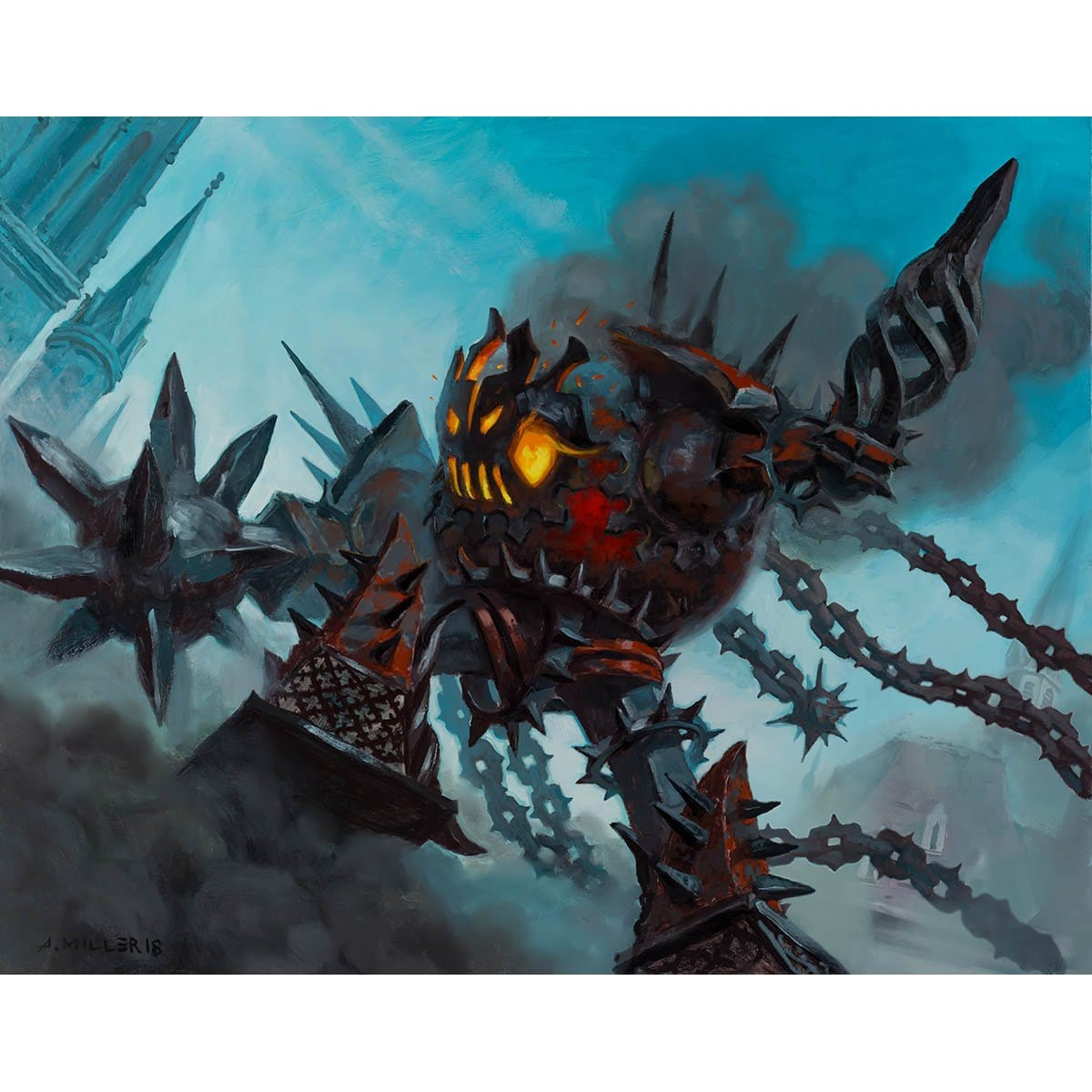 Iron Bully Print - Print - Original Magic Art - Accessories for Magic the Gathering and other card games