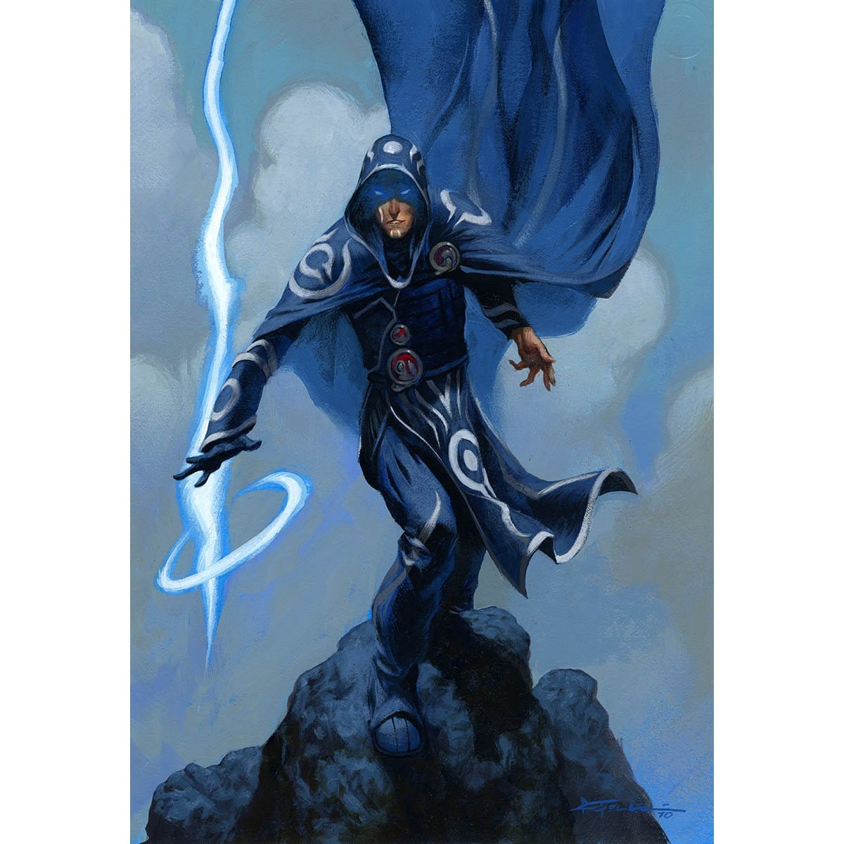 Jace Starter Deck Print - Print - Original Magic Art - Accessories for Magic the Gathering and other card games