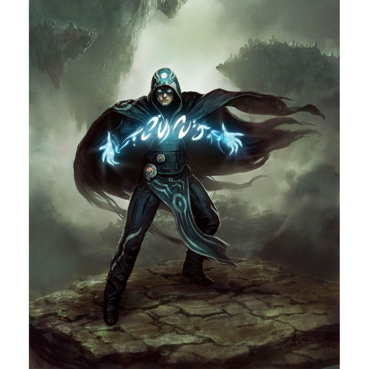 Jace, the Mind Sculptor Print - Print - Original Magic Art - Accessories for Magic the Gathering and other card games
