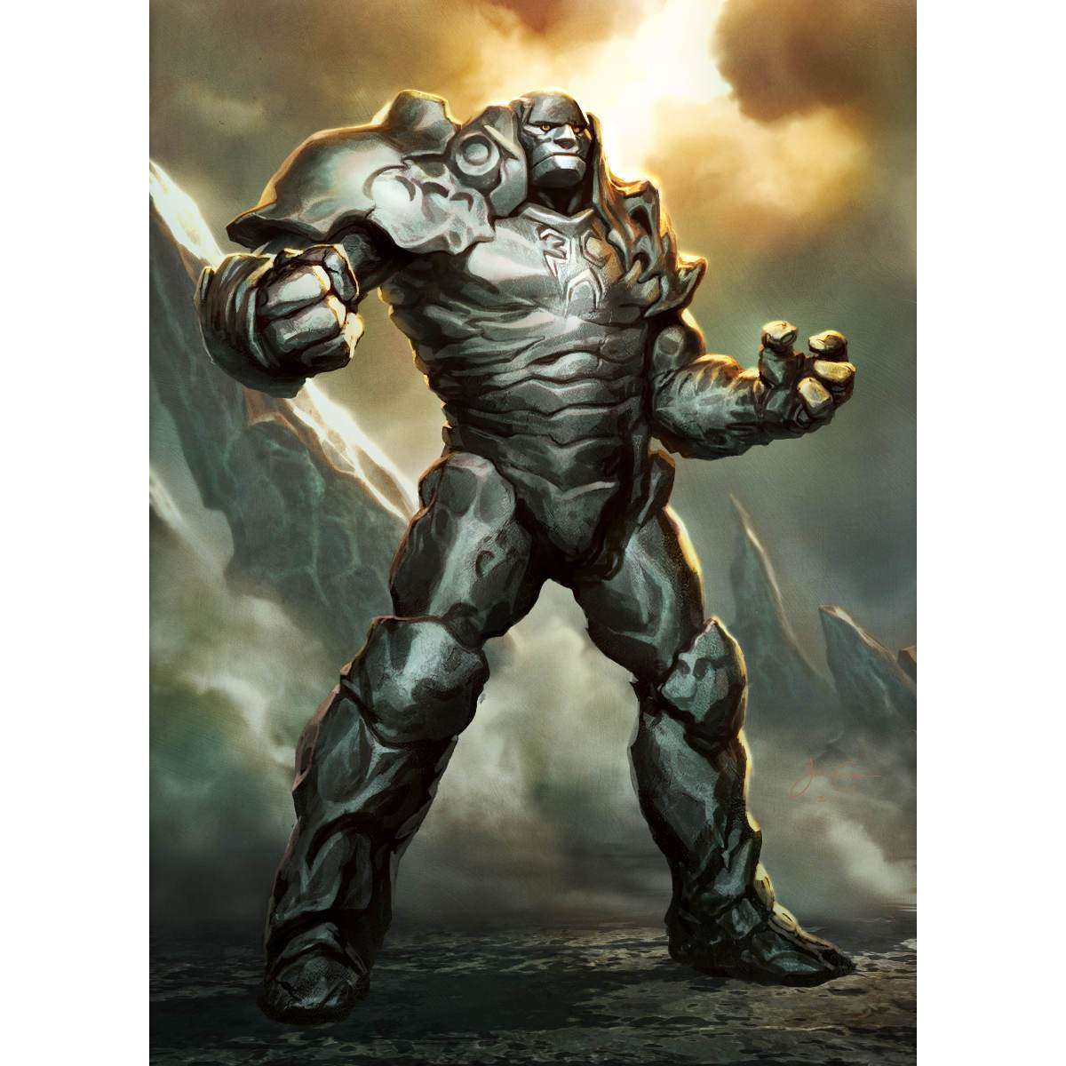 Karn Liberated Print - Print - Original Magic Art - Accessories for Magic the Gathering and other card games