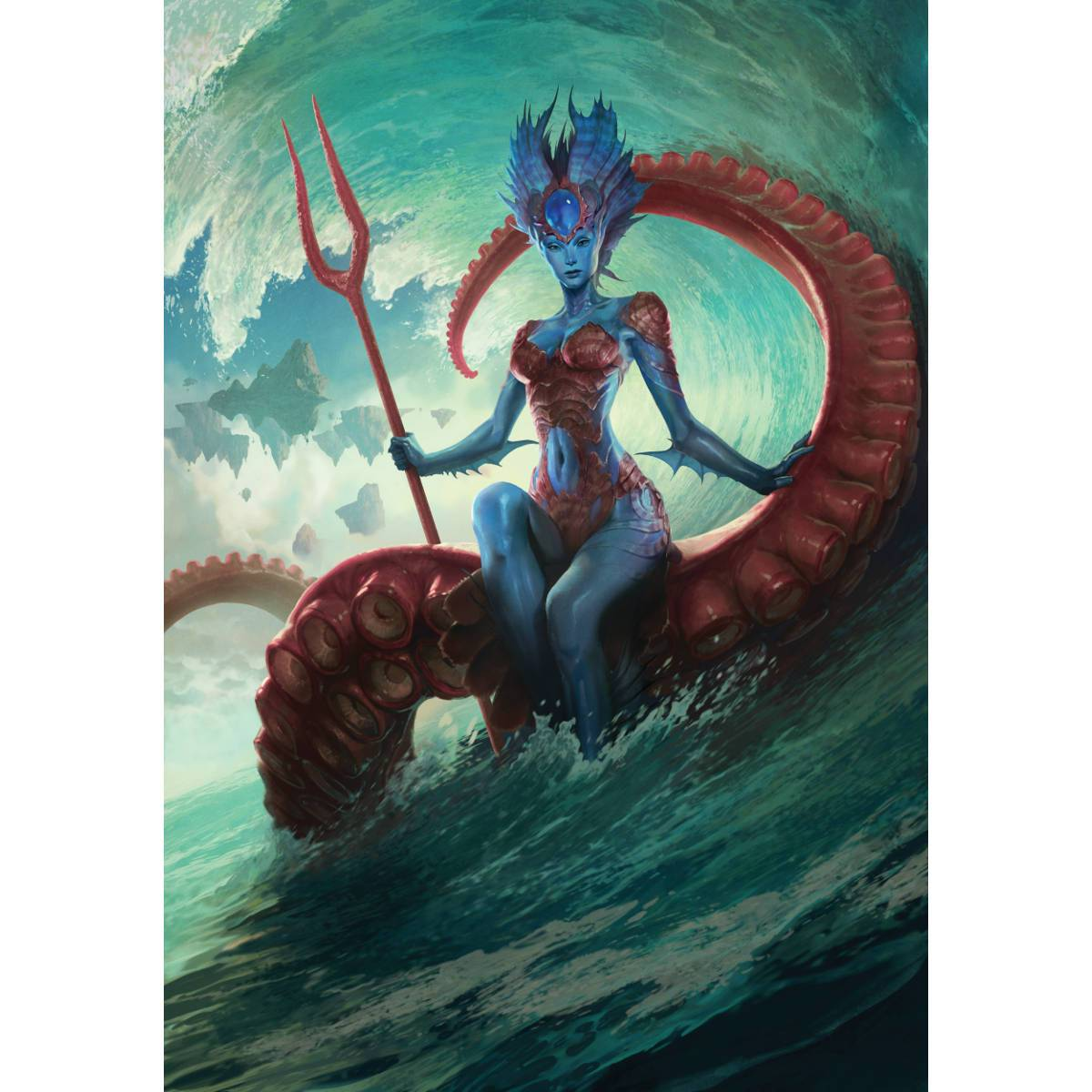 Kiora, Master of the Depths Print - Print - Original Magic Art - Accessories for Magic the Gathering and other card games
