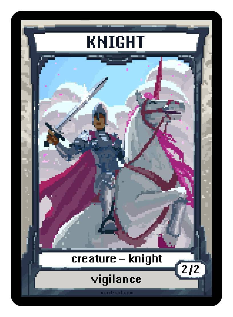 Knight Token (2/2 - Vigilance) by Irina Nordsol