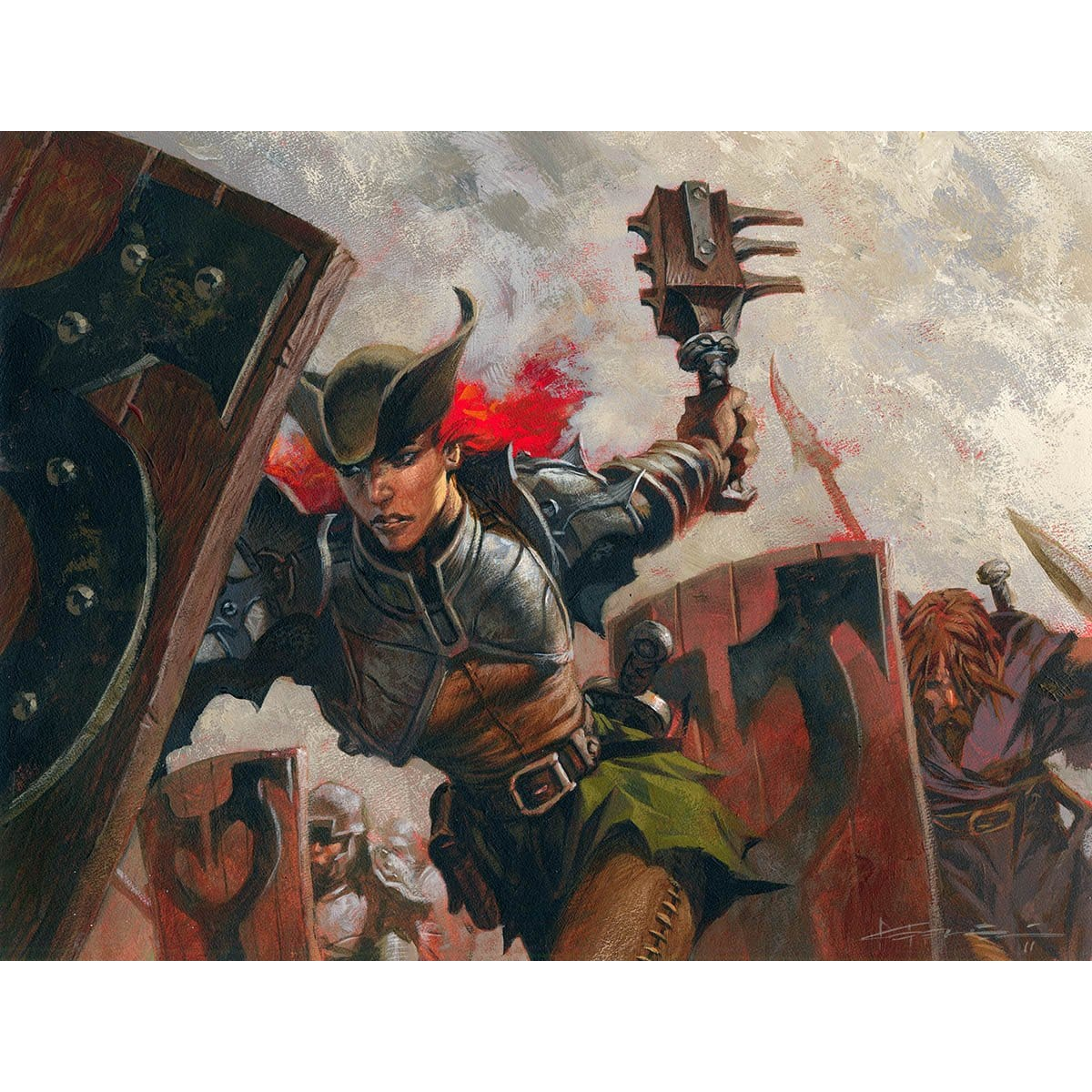 Kruin Striker Print - Print - Original Magic Art - Accessories for Magic the Gathering and other card games