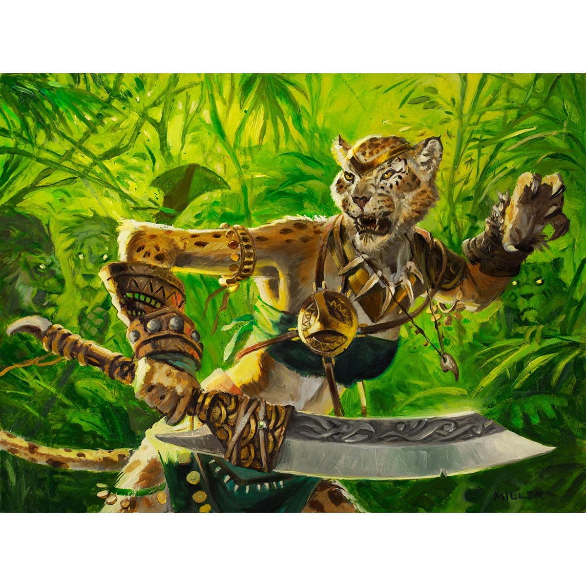 Leonin Vanguard Print - Print - Original Magic Art - Accessories for Magic the Gathering and other card games