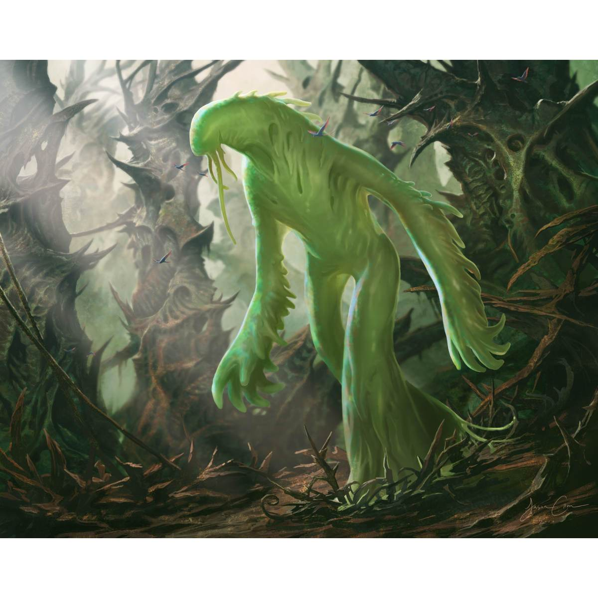 Liege of the Tangle Print - Print - Original Magic Art - Accessories for Magic the Gathering and other card games