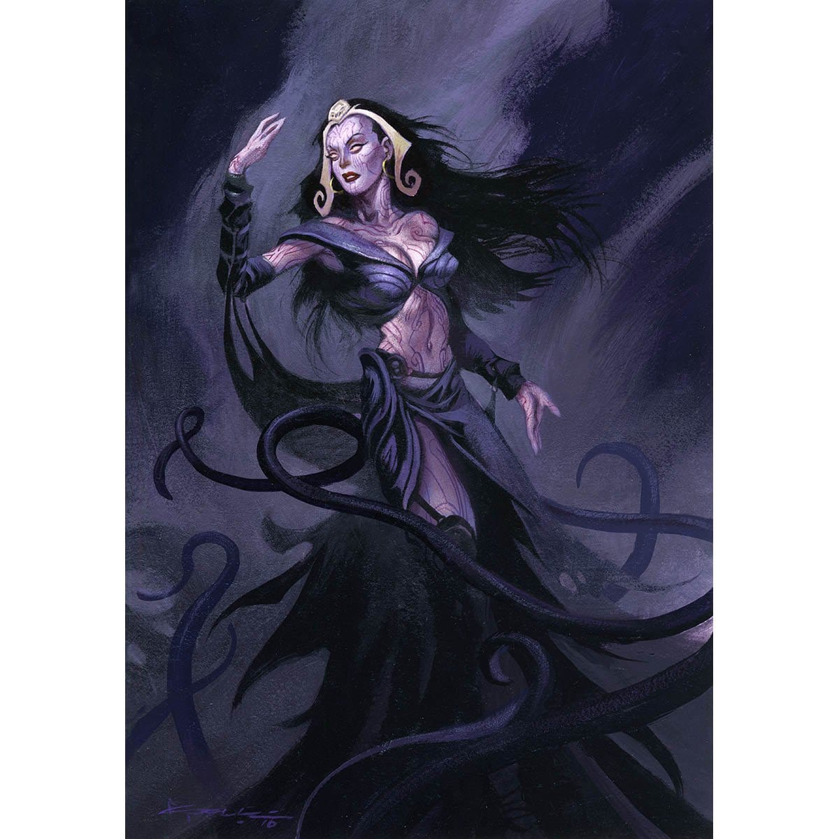 Liliana Starter Deck Print - Print - Original Magic Art - Accessories for Magic the Gathering and other card games