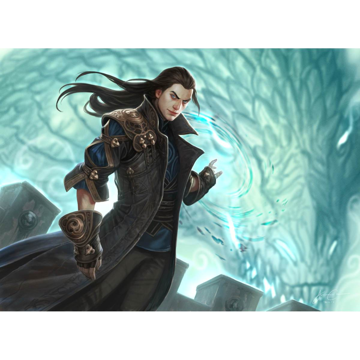 Lord of the Unreal Print - Print - Original Magic Art - Accessories for Magic the Gathering and other card games