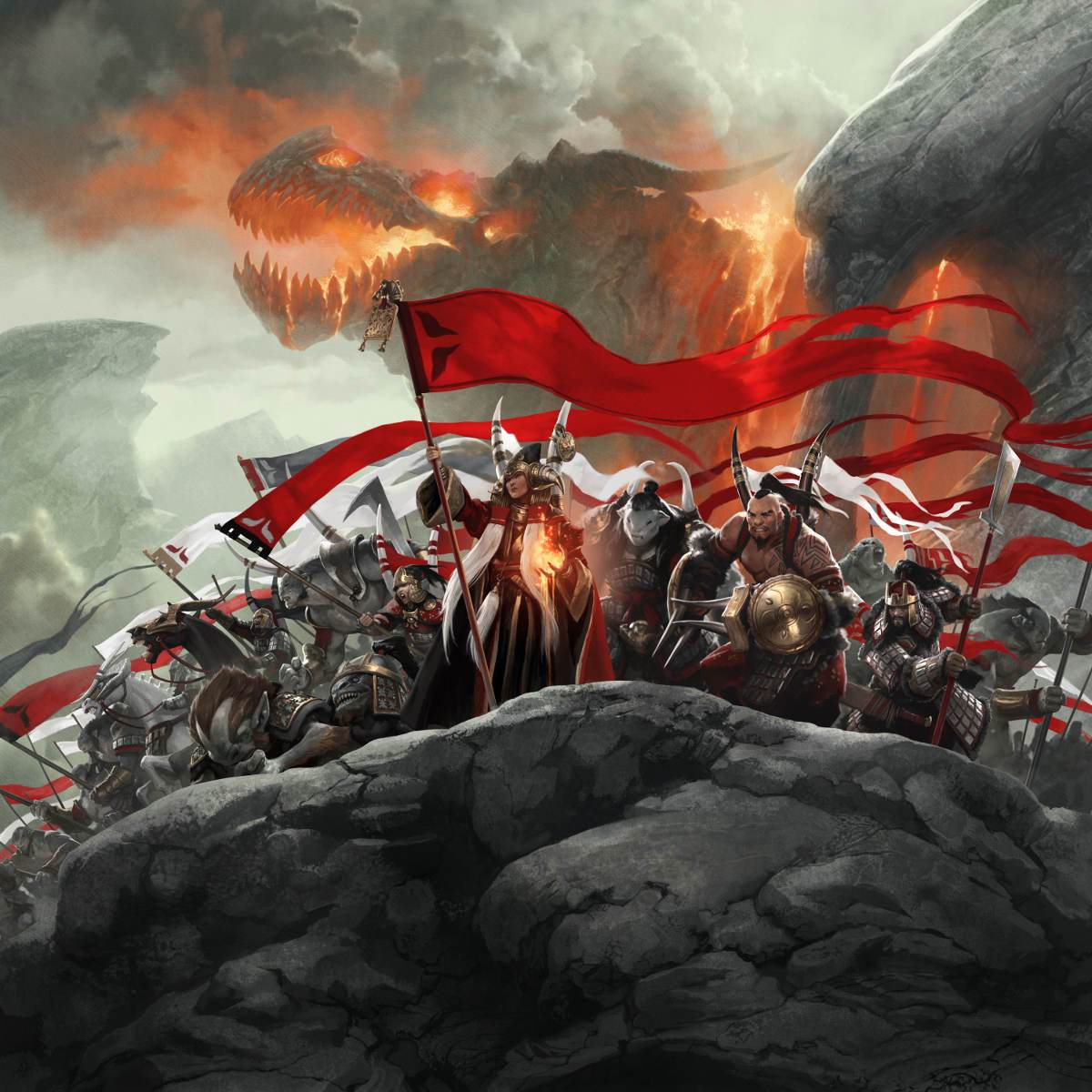 Mardu Ascendancy Print - Print - Original Magic Art - Accessories for Magic the Gathering and other card games