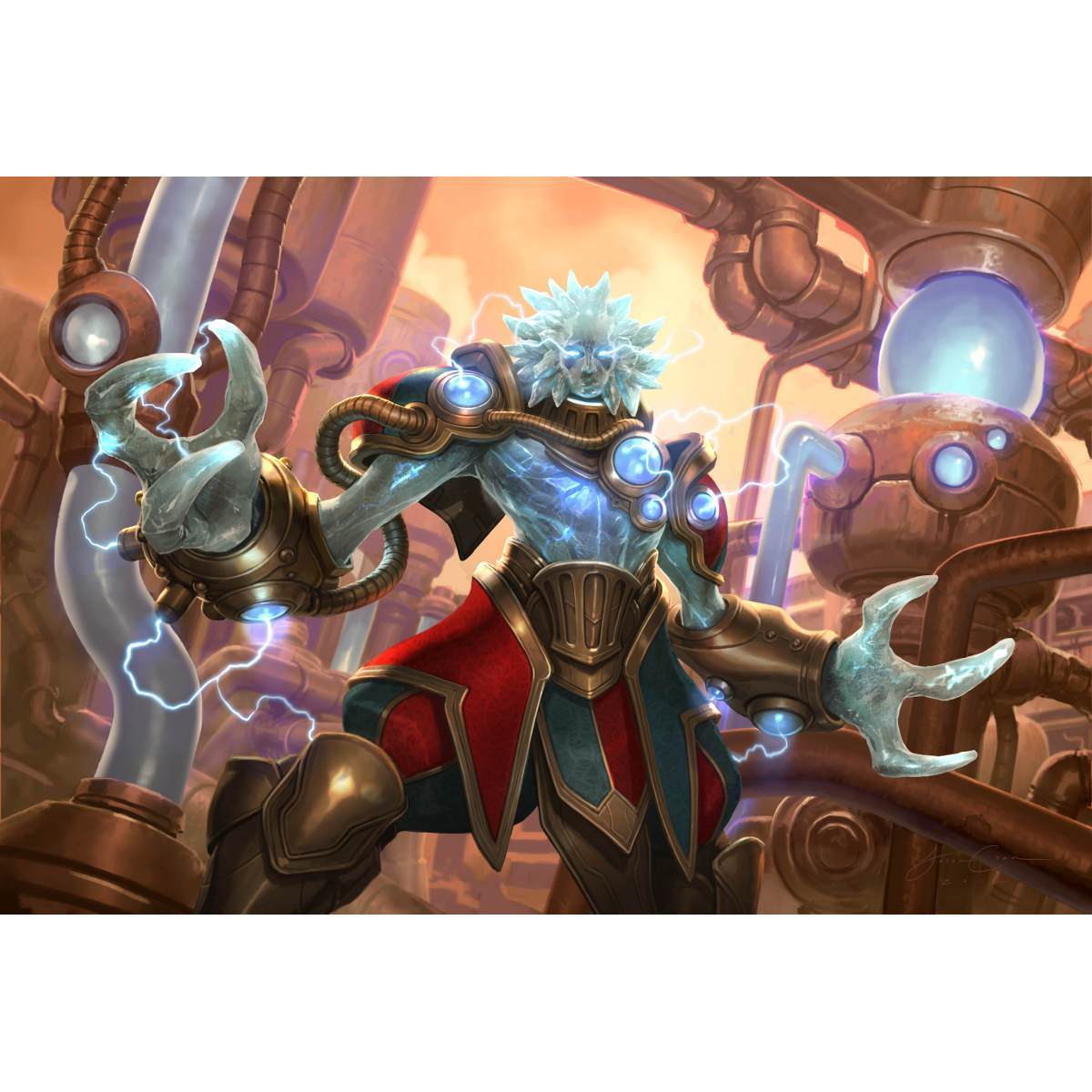 Melek, Izzet Paragon Print - Print - Original Magic Art - Accessories for Magic the Gathering and other card games