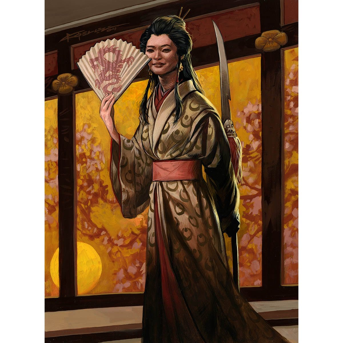 Michiko Konda, Truth Seeker Print - Print - Original Magic Art - Accessories for Magic the Gathering and other card games