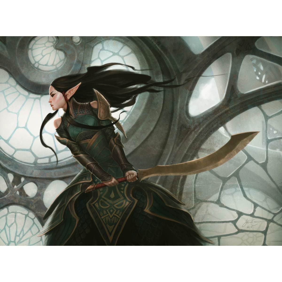 Naya Hushblade Print - Print - Original Magic Art - Accessories for Magic the Gathering and other card games