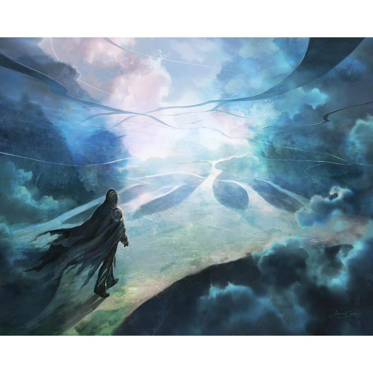 Omniscience Print - Print - Original Magic Art - Accessories for Magic the Gathering and other card games