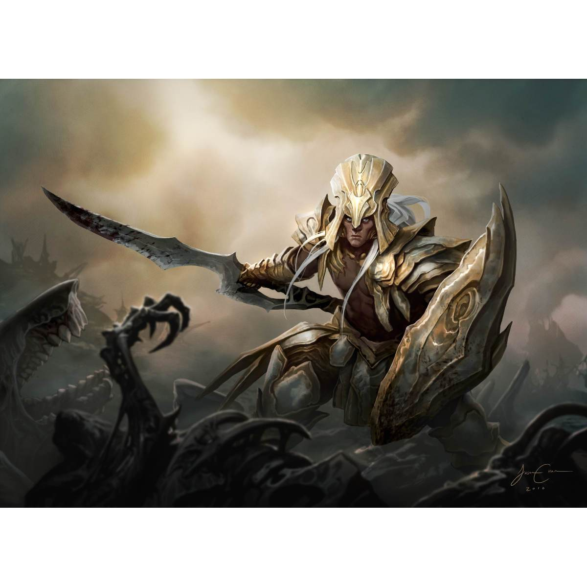 Puresteel Paladin Print - Print - Original Magic Art - Accessories for Magic the Gathering and other card games
