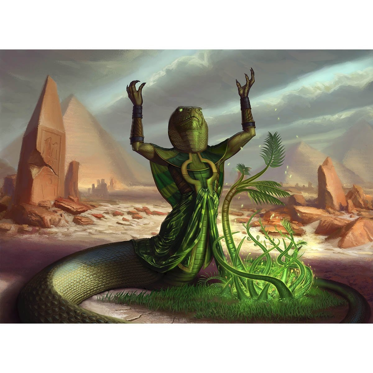 Ramunap Excavator Print - Print - Original Magic Art - Accessories for Magic the Gathering and other card games