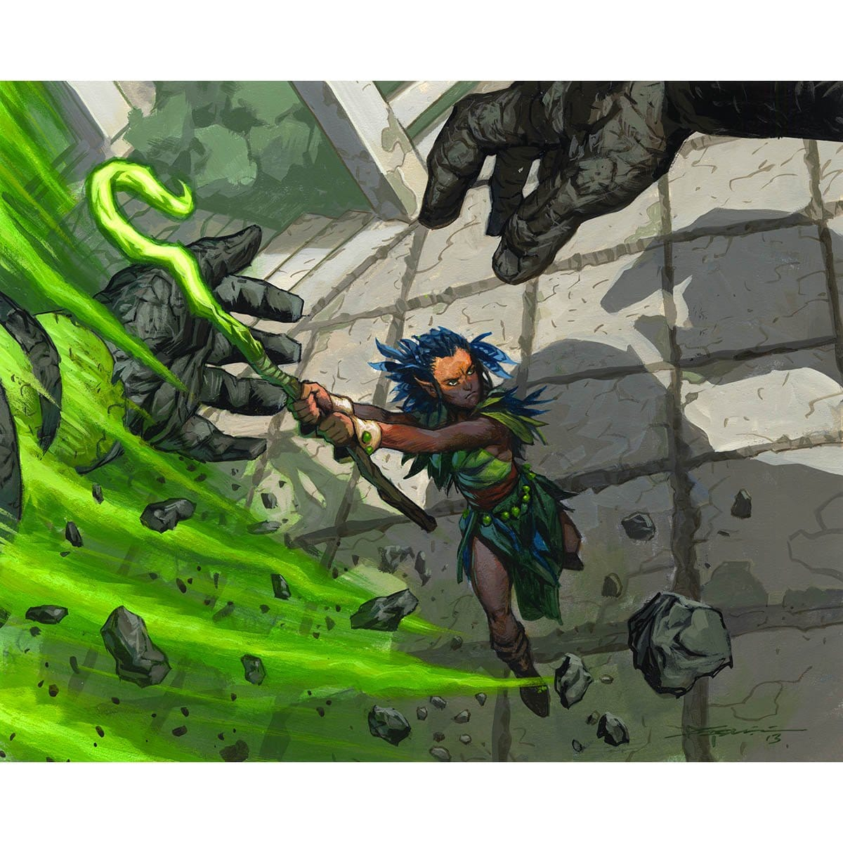 Reclamation Sage Print - Print - Original Magic Art - Accessories for Magic the Gathering and other card games