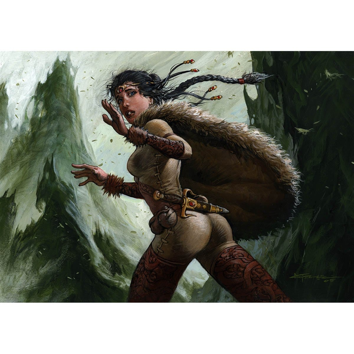 Saffi Eriksdotter Print - Print - Original Magic Art - Accessories for Magic the Gathering and other card games