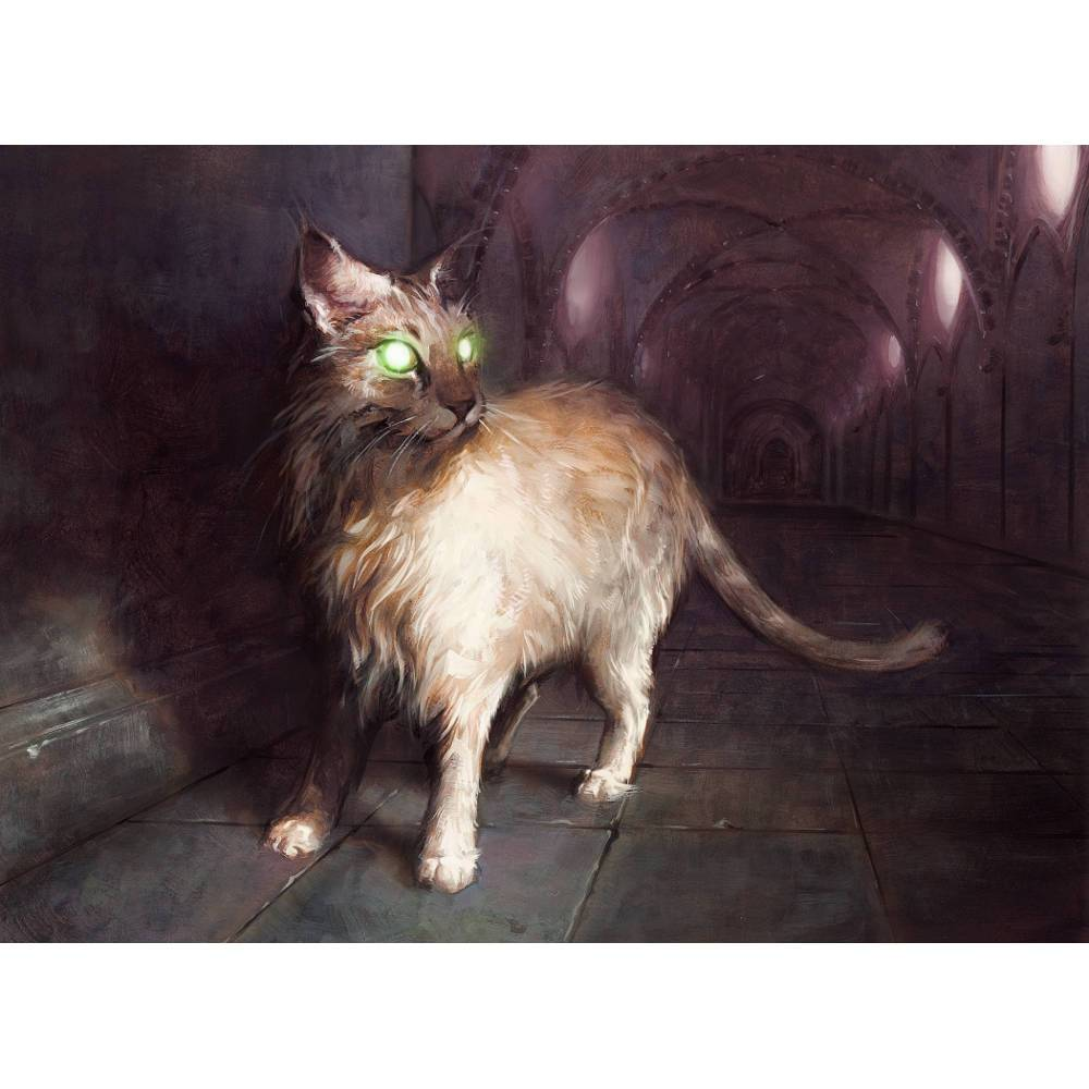 Sanctuary Cat Print - Print - Original Magic Art - Accessories for Magic the Gathering and other card games