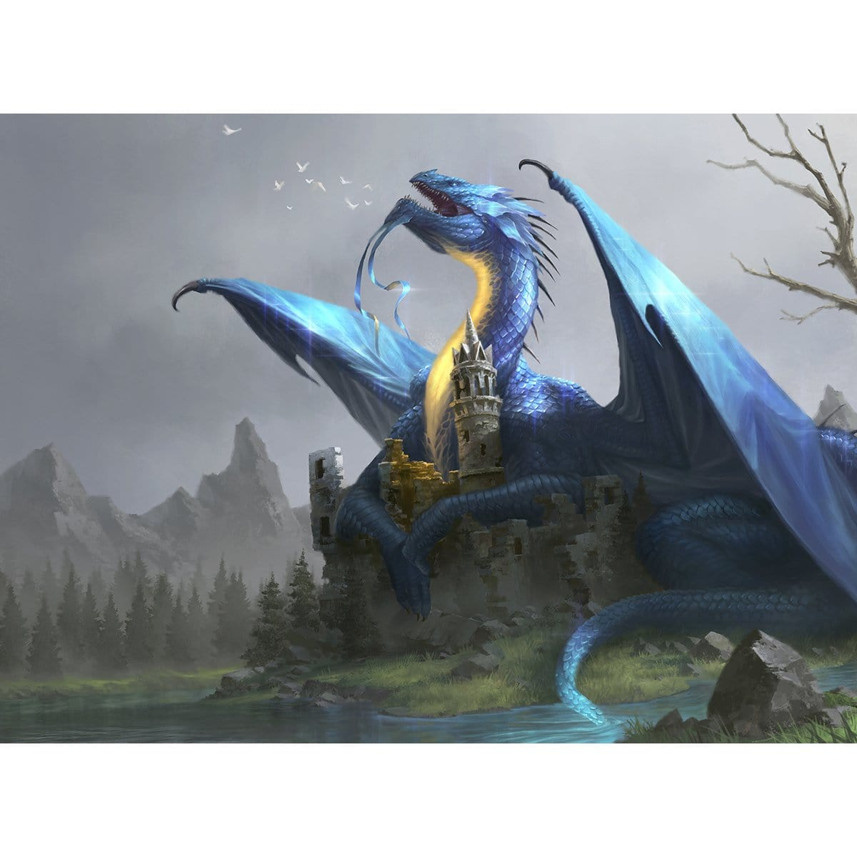 Shimmer Dragon Print - Print - Original Magic Art - Accessories for Magic the Gathering and other card games