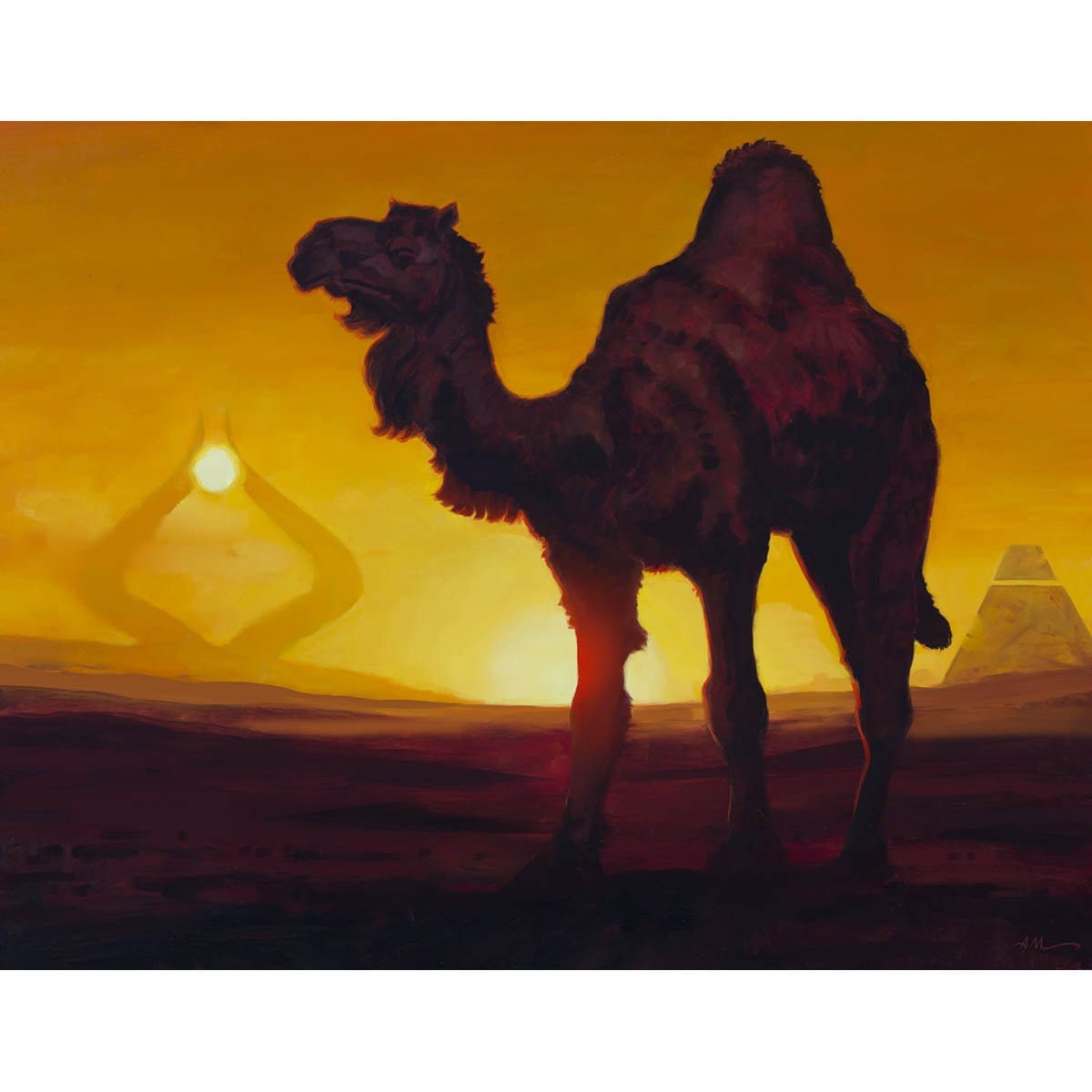 Solitary Camel Print - Print - Original Magic Art - Accessories for Magic the Gathering and other card games