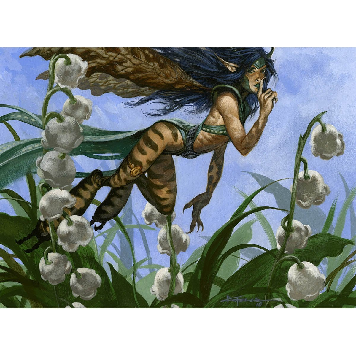 Spellstutter Sprite Print - Print - Original Magic Art - Accessories for Magic the Gathering and other card games