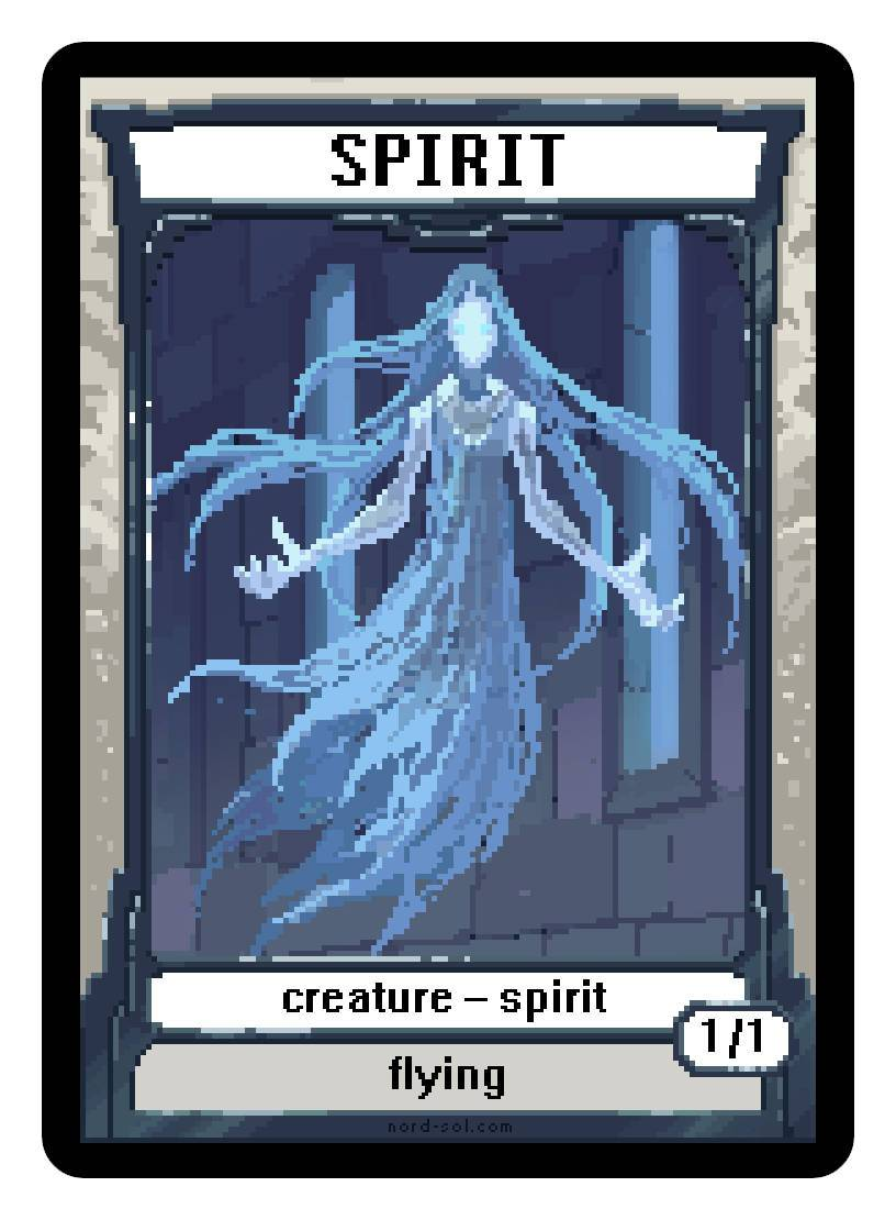 Spirit Token (1/1 - Flying) by Irina Nordsol