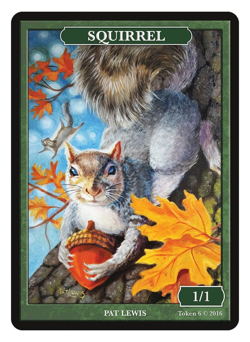 Squirrel Token (1/1) by Pat Lewis - Token - Original Magic Art - Accessories for Magic the Gathering and other card games