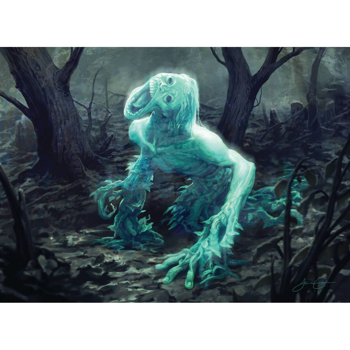 Strangleroot Geist Print - Print - Original Magic Art - Accessories for Magic the Gathering and other card games